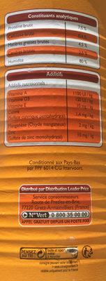 Bouchées à la volaille & aux carottes - Nutrition facts - fr