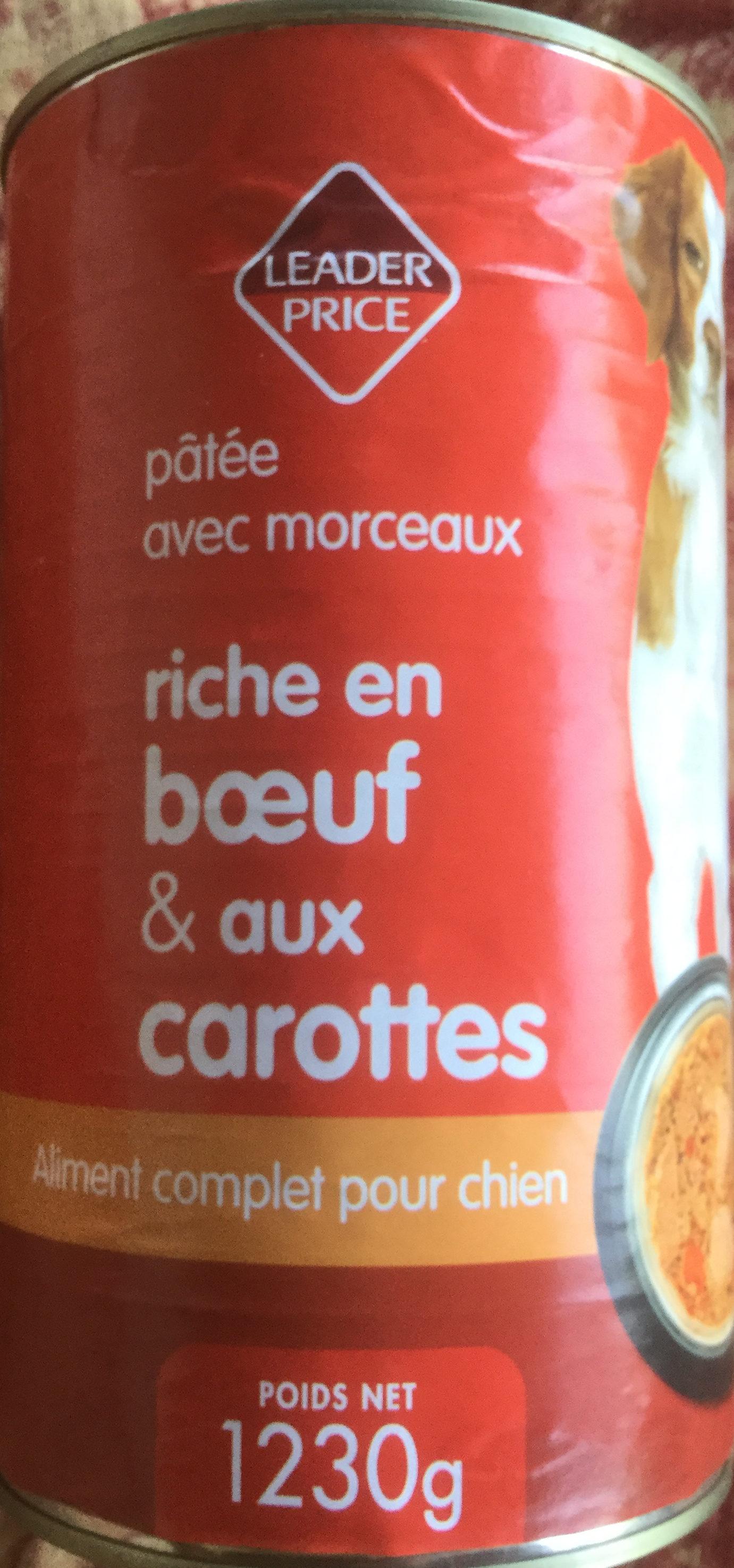 Pâtée avec morceaux riche en bœuf & aux carottes - Product