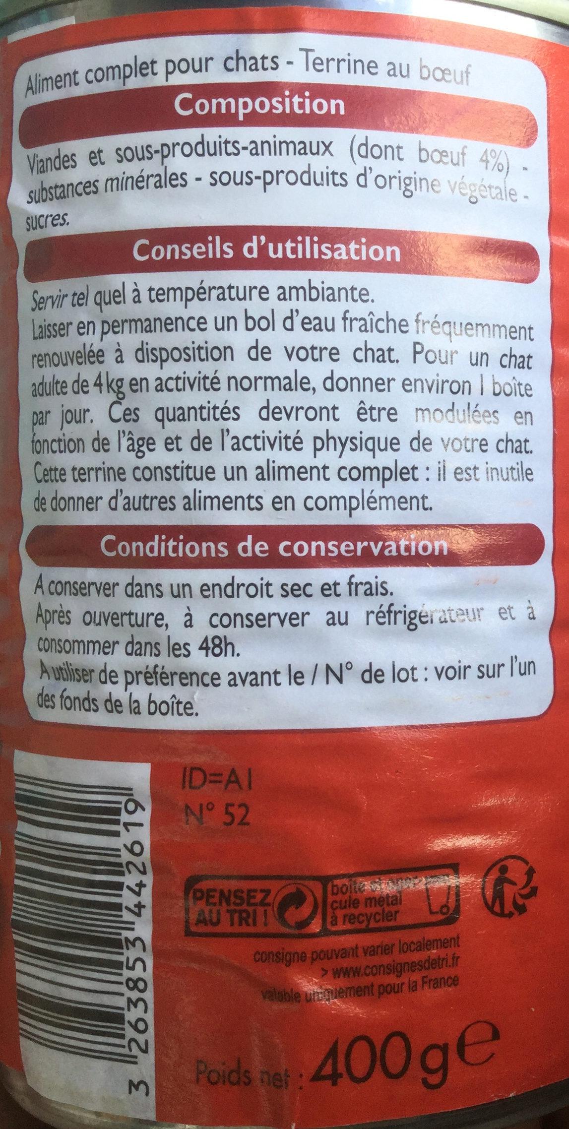 Terrine au bœuf - Ingredients