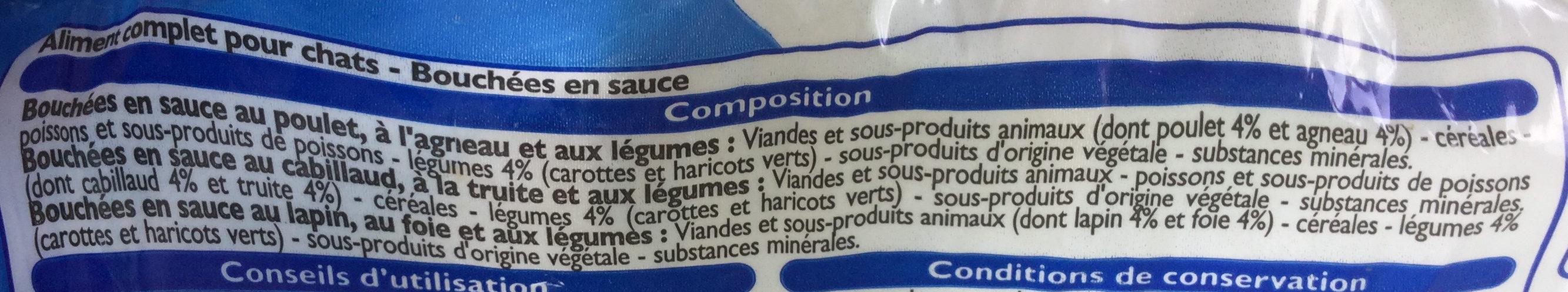 Bouchées aux légumes - Ingrédients