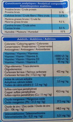Croquettes aux légumes verts et aux carottes au saumon & au thon - Nutrition facts