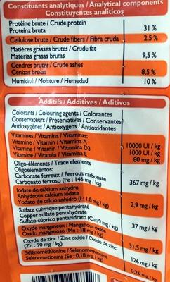 Croquettes aux légumes verts et aux carottes, à la volaille & au foie - Nutrition facts
