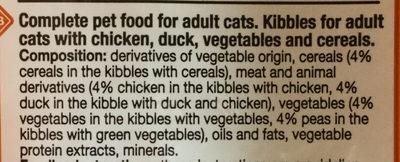 Croquettes au poulet, au canard et aux légumes - Ingredients