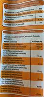 Croquettes au poulet, au canard et aux légumes  - Informations nutritionnelles