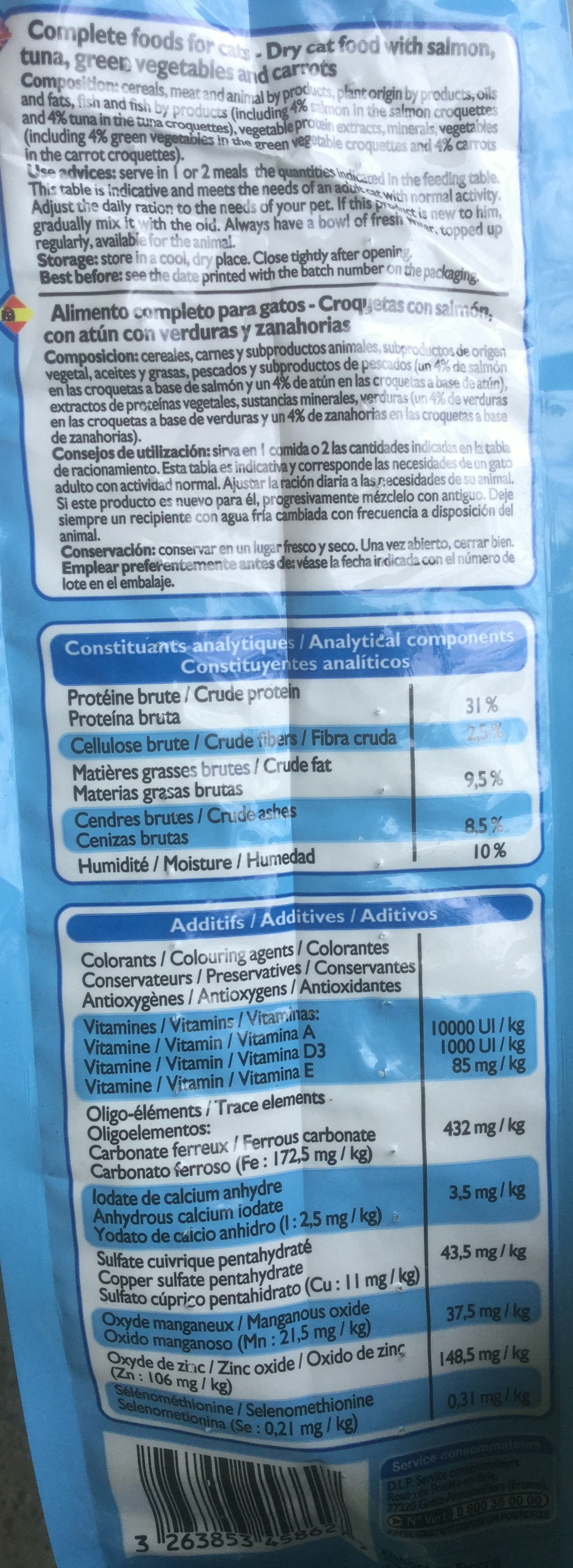 Croquettes saumon thon - Nutrition facts - en
