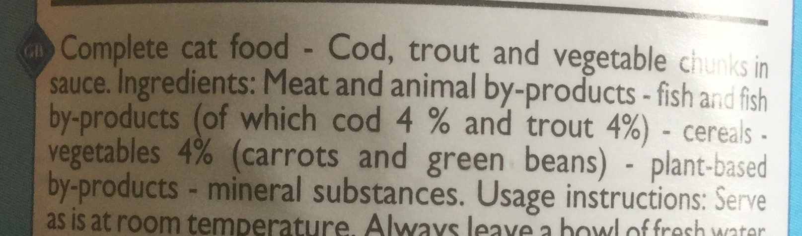 Bouchées au cabillaud & à la truite - Ingredients