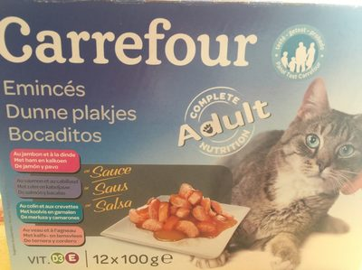 Assortiment émincés en sauce pour chat - Product
