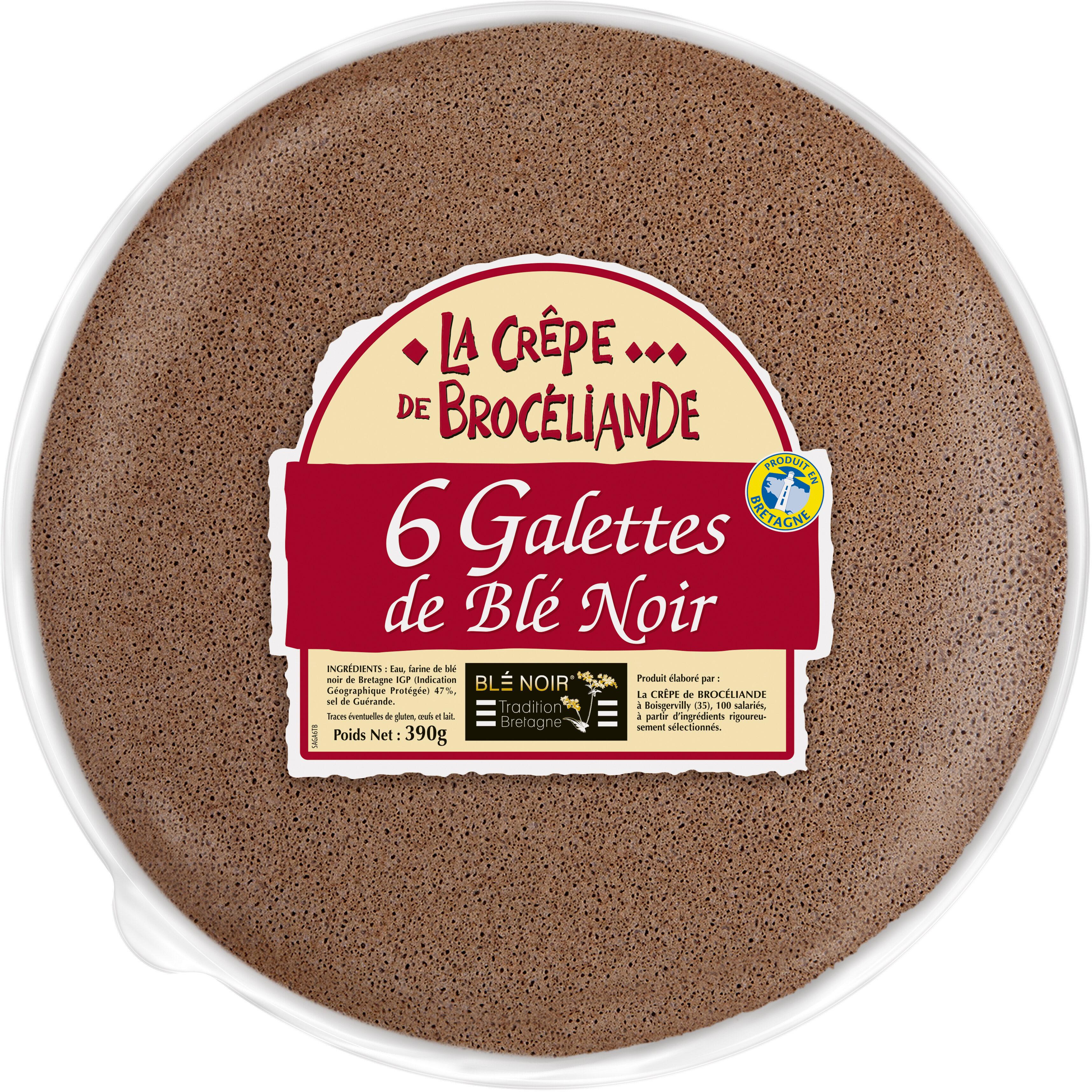 Galettes de Blé Noir Tradition Bretagne en sachet x6 - Product