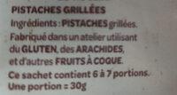 Pistaches grillées - Ingrédients - fr