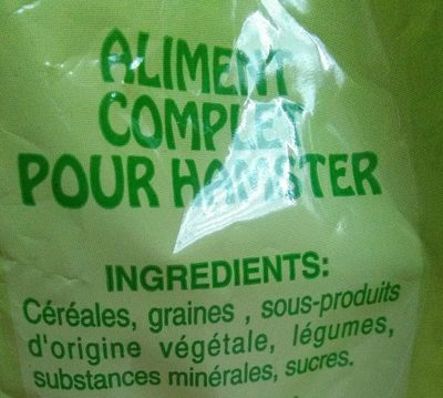 Repas spécial hamster - Ingredients - fr