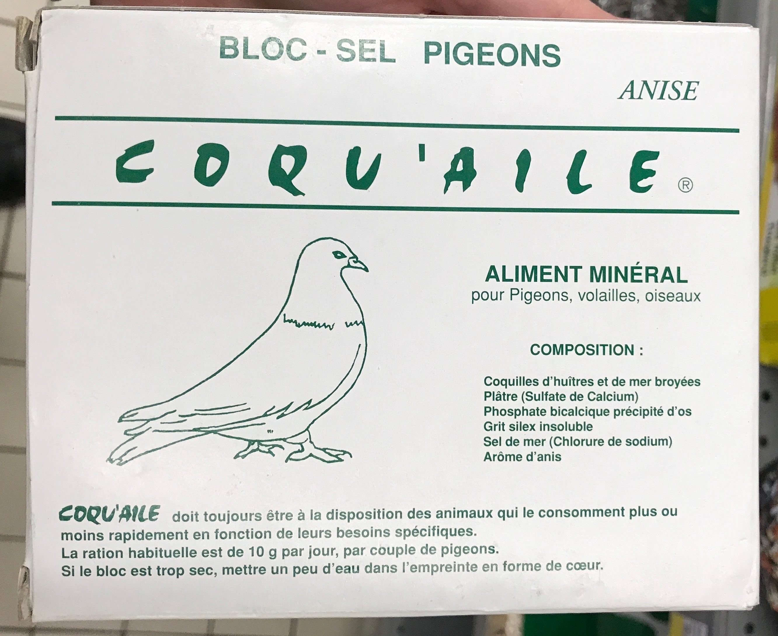 Bloc-sel pigeons anisé - Product