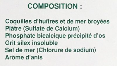 Bloc-sel pigeons anisé - Ingrédients