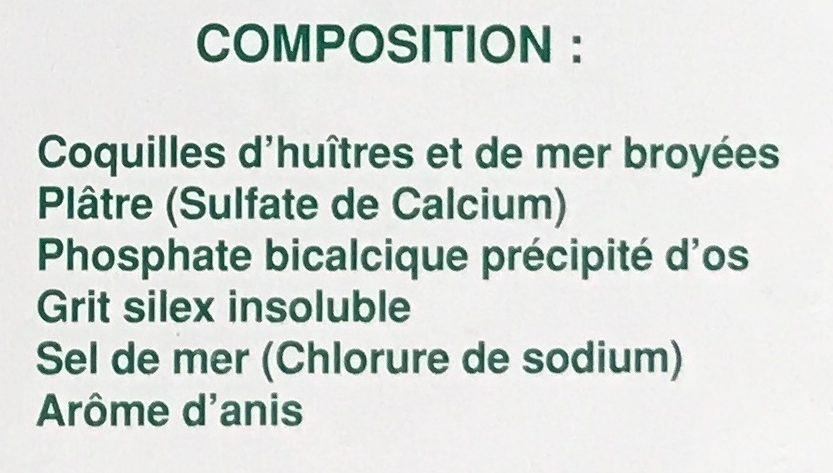 Bloc-sel pigeons anisé - Ingredients
