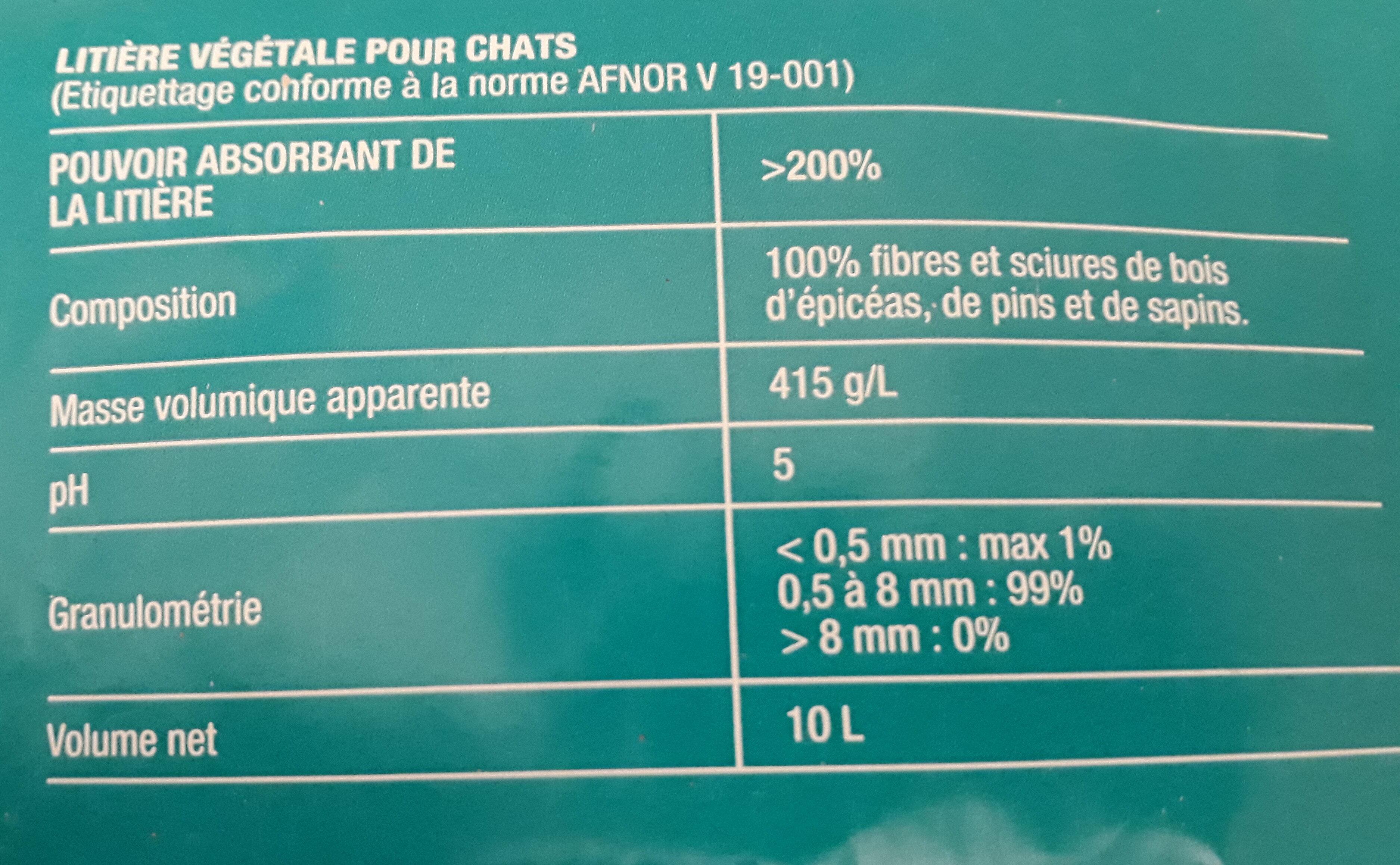 Litière végétale - Ingredients - fr
