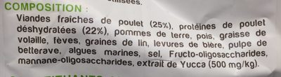 Nutrivia Nature - Croquettes Au Poulet Pour Chien - 3KG - Ingredients
