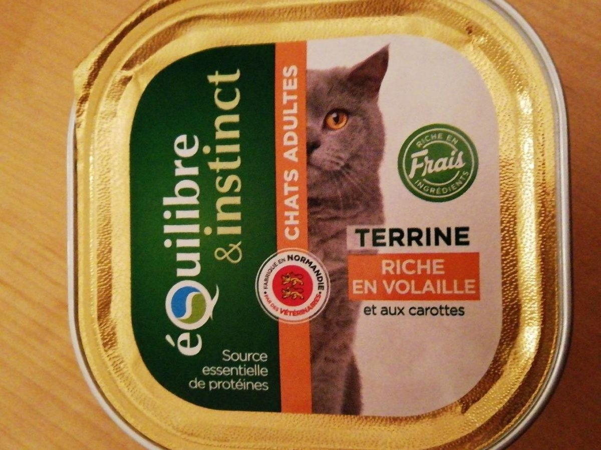 Terrine chat adulte volaille carottes - Product