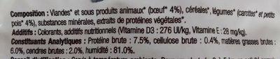 Patee Boeuf Et Legumes Chat - Ingredients - fr