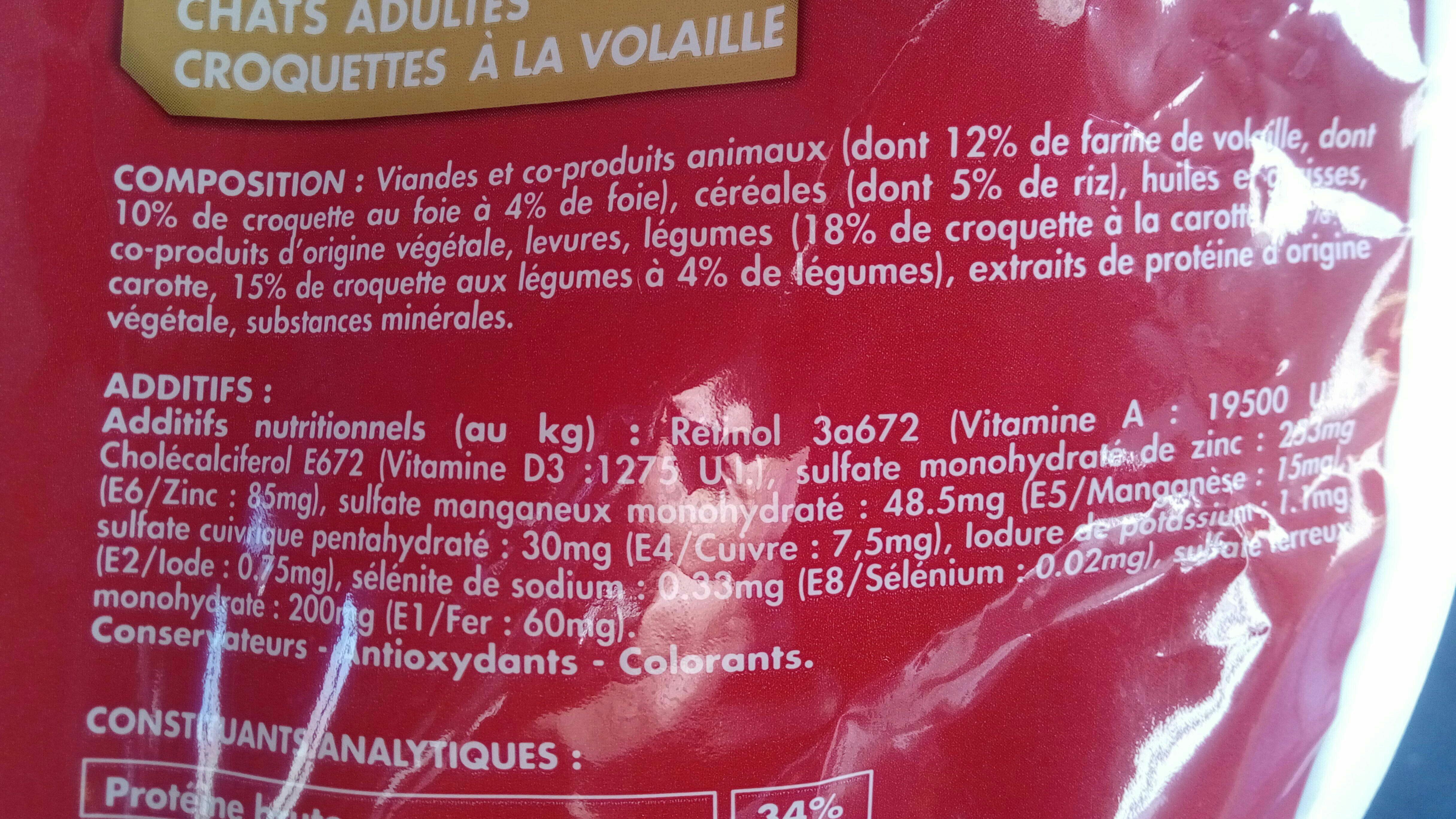 Croquettes à la volaille - Ingredients