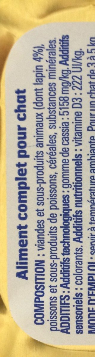 Aliment Complet Lapin Eco+ 100G - Ingredients - fr