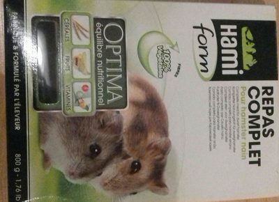 Hamiform - Repas Complet Optima Pour Hamster Nain - 800G - Ingredients