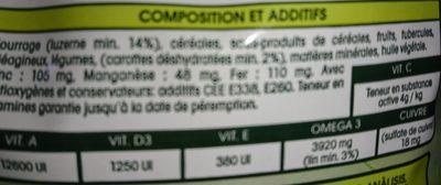 Hamiform - Repas Premium Optima+ Pour Cochon D'inde - 2,5KG - Ingredients