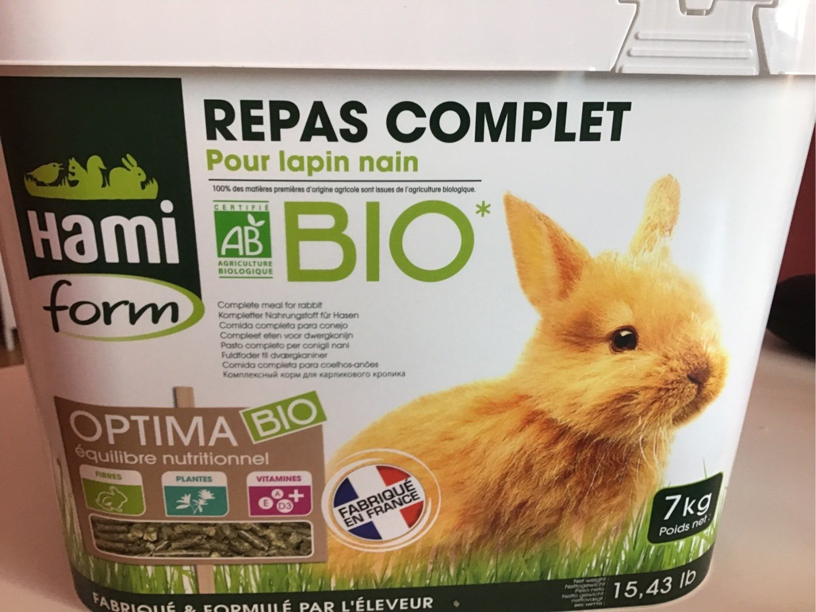 Repas complet pour lapin nain - Product