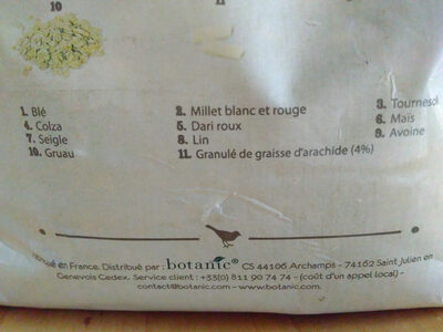 Mélande de graines - Ingredients - fr