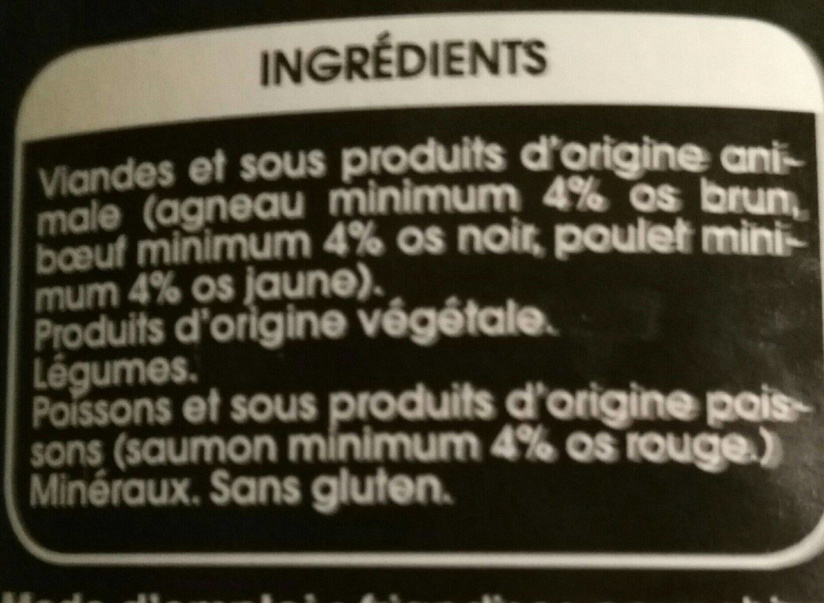Friandises pour chien - Nutrition facts