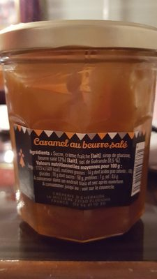 caramel au beurre salé - Nutrition facts