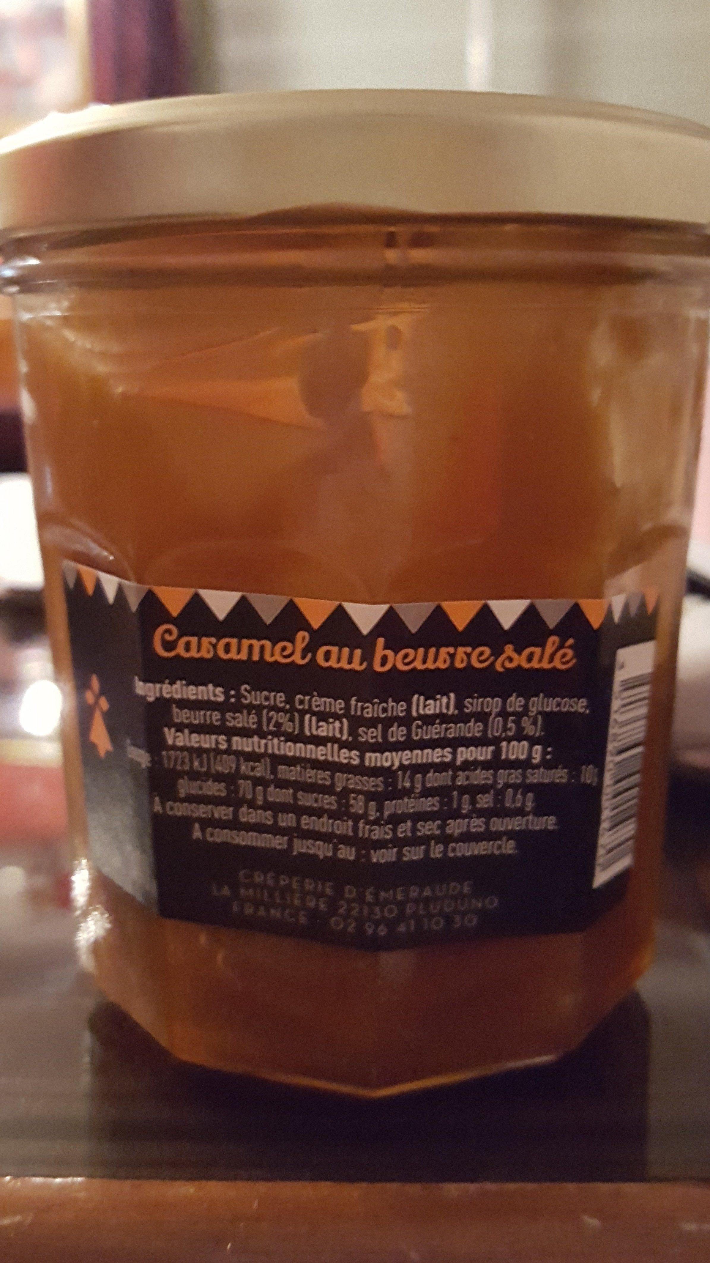 caramel au beurre salé - Nutrition facts - fr