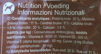 Croquettes poulet - Nutrition facts