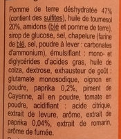 tuile goût paprika - Ingredients
