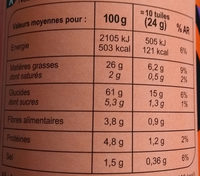 tuile goût paprika - Nutrition facts
