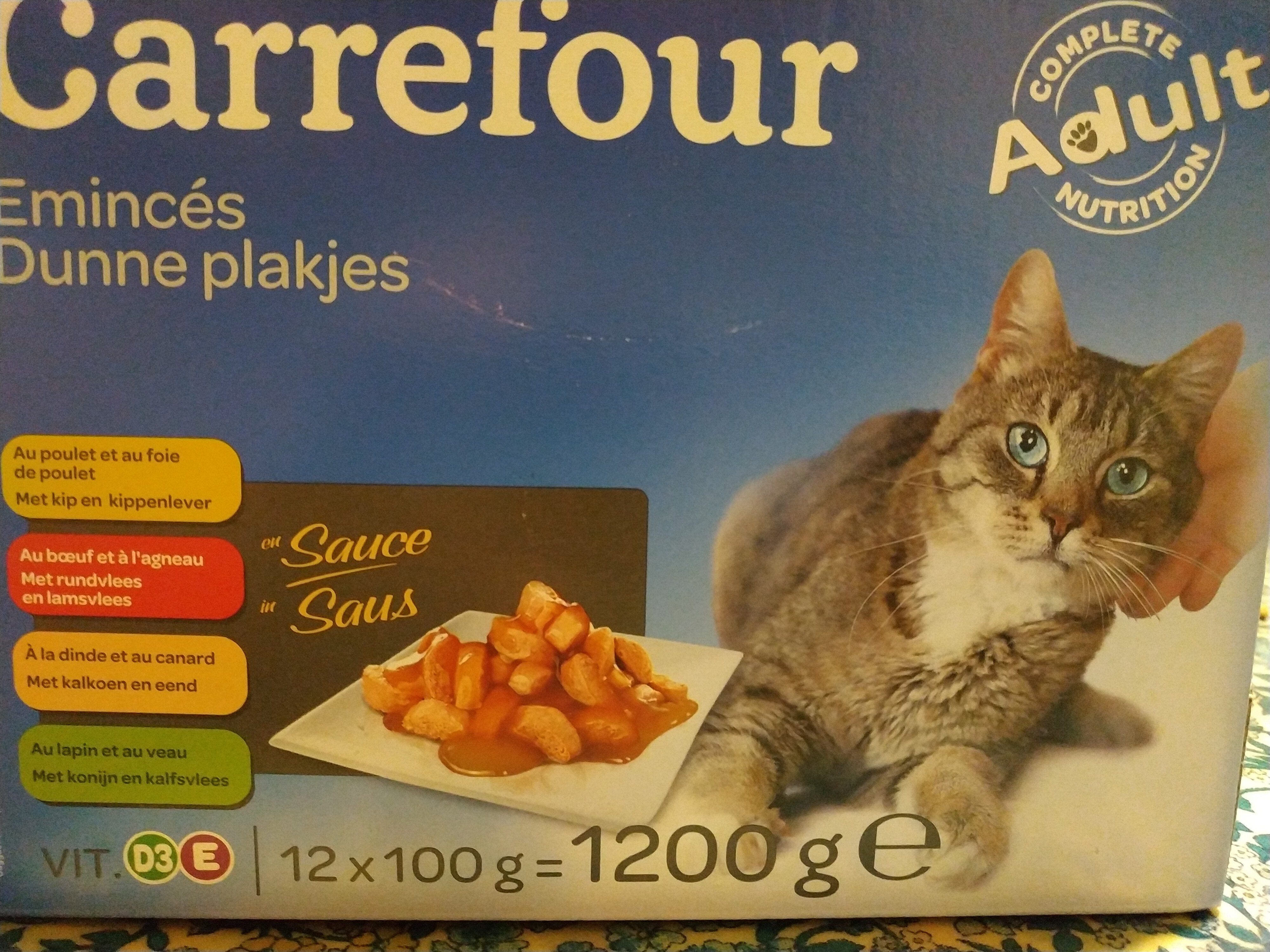 Carrefour émincés pour chat - Produit - fr