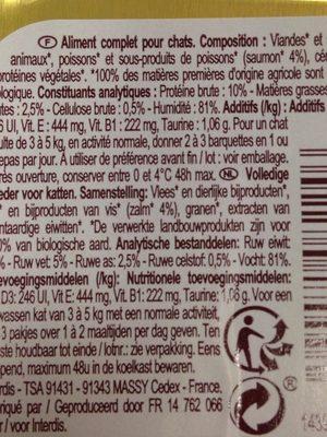 Pate au saumon bio - Ingredients