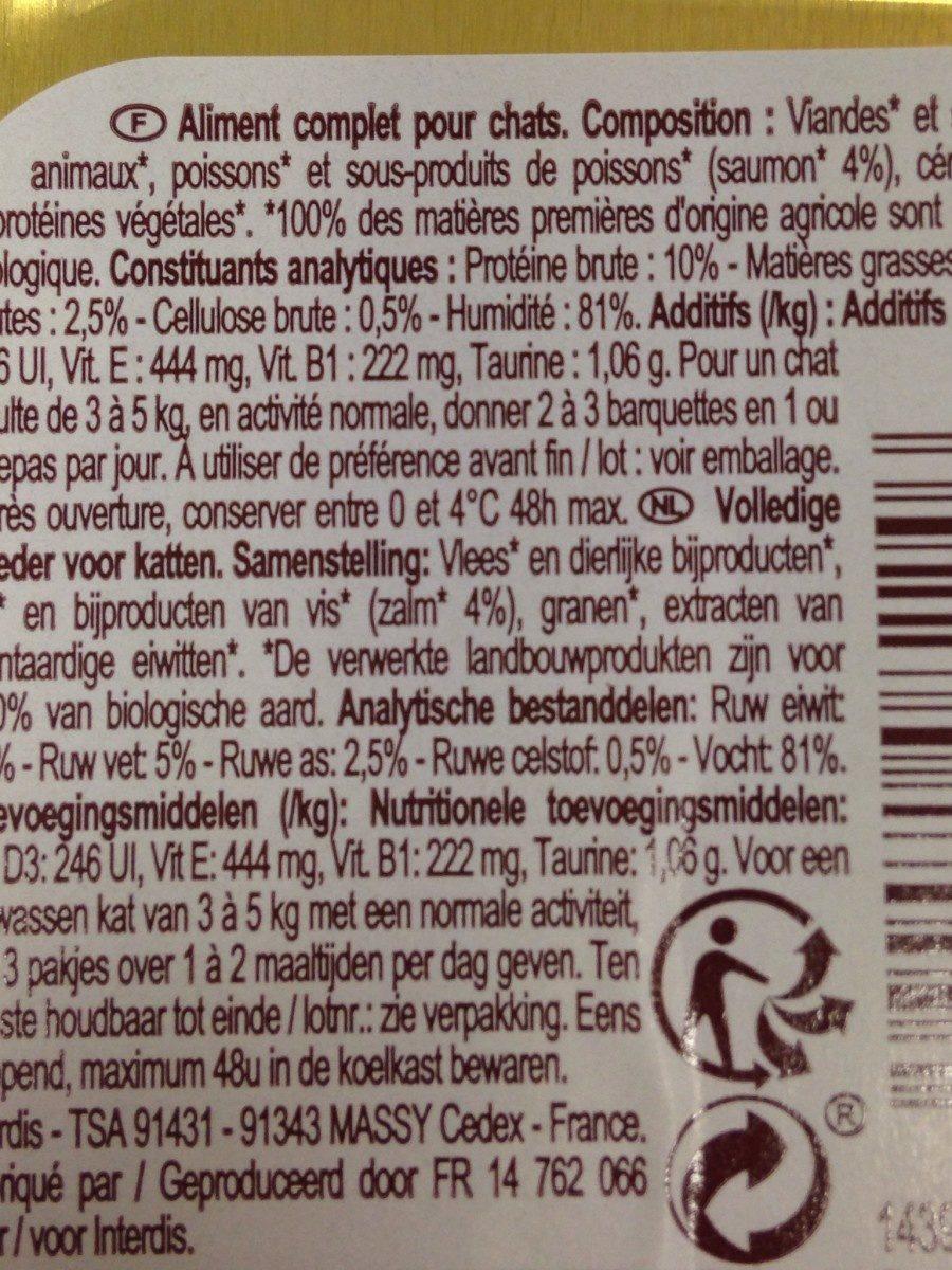 Pate au saumon bio - Ingrédients - fr