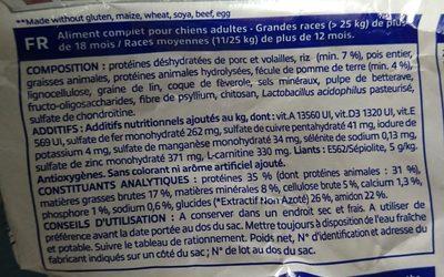 Virbac Veterinary HPM Adult Large & Medium Dog 7 KG - Ingredients