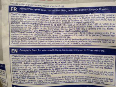 Junior Veterinary HPM - Ingredients