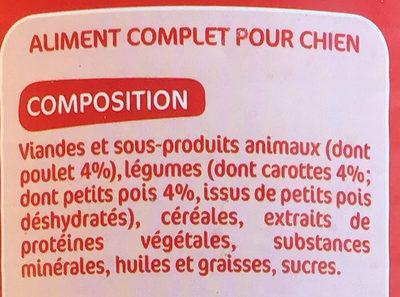 Les Bouchées Mijotées - poulet - Ingredients