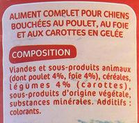 Les Bouchées en Gelée au poulet, au foie et aux carottes - Ingredients - fr