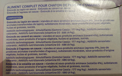Lycat chaton - Ingredients