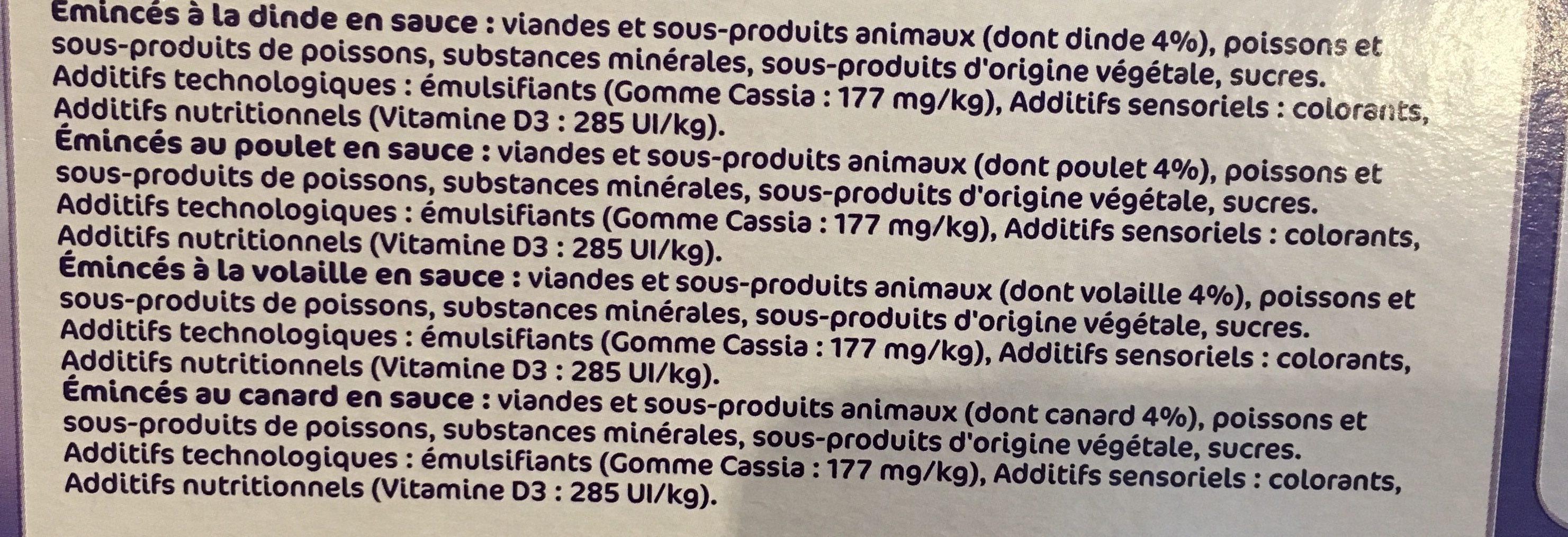 Les menus gourmands - Ingredients - fr