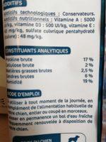 Sticks dentaires - Ingredients