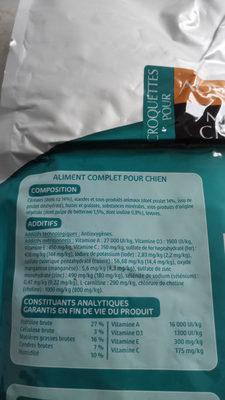 LYDOG Croquettes pour Mini Chien Adulte - Nutrition facts