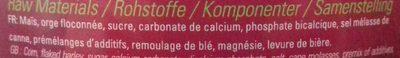 Friandises - Ingredients - fr