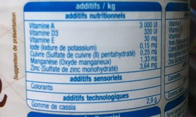 Terinne adulte chat au lapin - Informations nutritionnelles
