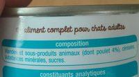 Terrine adulte - Ingredients - fr