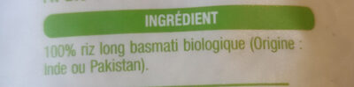 Riz basmati - Ingredients - fr