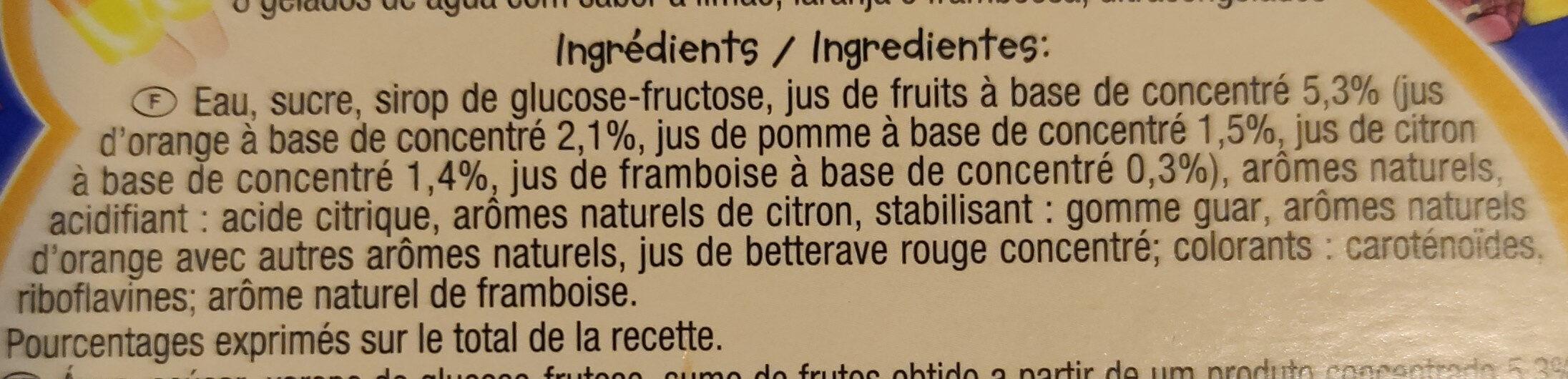 Fusées - Ingrédients - fr