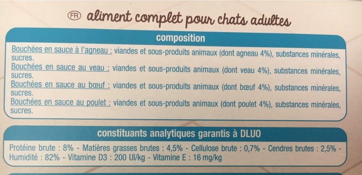 Bouchées en sauce - Ingredients - fr